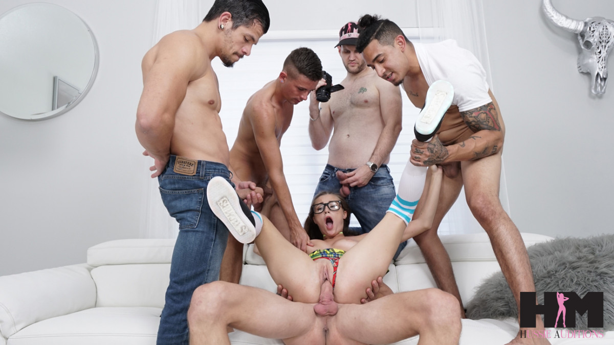 [Hussie Auditions] Carolina Sweets Gets Messy in Her First Gangbang  4K UltraHD (2160p)