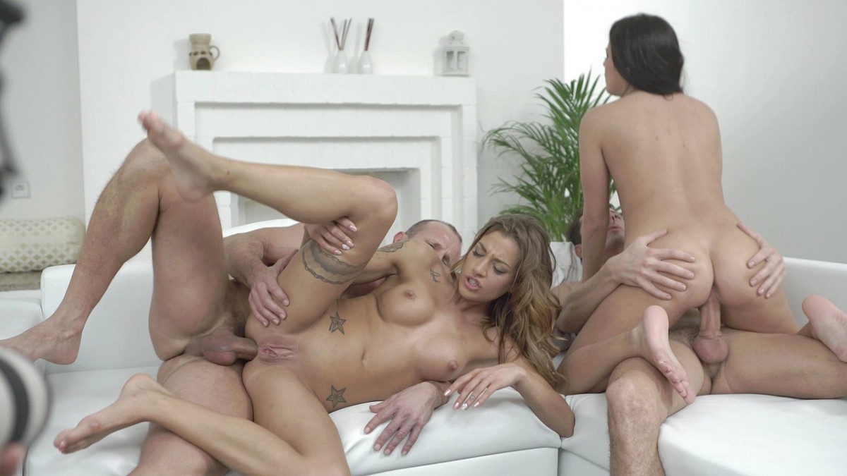 [Bang! Originals] Twins Eveline And Silvia Dellai Get Anal Action In Studio Foursome 4K UltraHD (2160p)