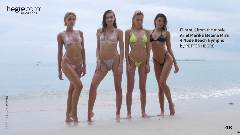 Hegre Ariel Marika Melena Mira 4 Nude Beach Nymphs 4K -4328