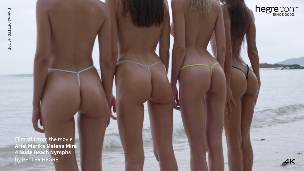 [Hegre] Ariel Marika Melena Mira 4 Nude Beach Nymphs 4K UltraHD 2160p