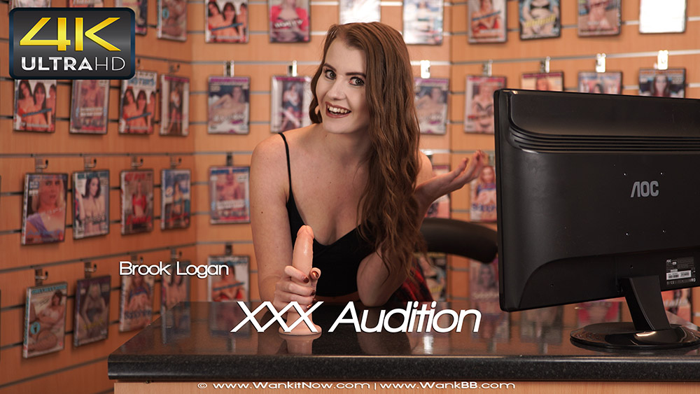 Wank it now - XXX Audition - Brook Logan - 4K UltraHD 2160p
