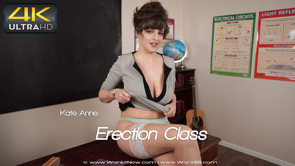 Wank it now - Erection Class - Kate Anne - 4K UltraHD 2160p